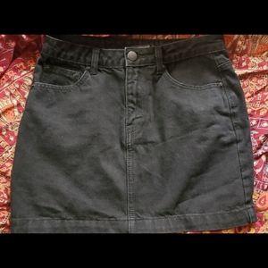 F21 Denim fitted mini skirt